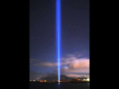 IMAGINE PEACE TOWER time lapse video - night of 19 Nov 2013.