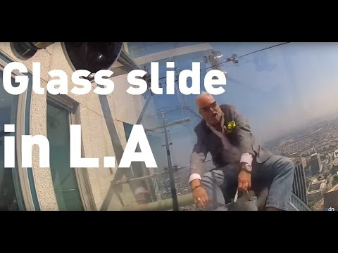 A glass slide on the side of LA
