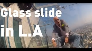 A glass slide on the side of LA's tallest building has opened to the public