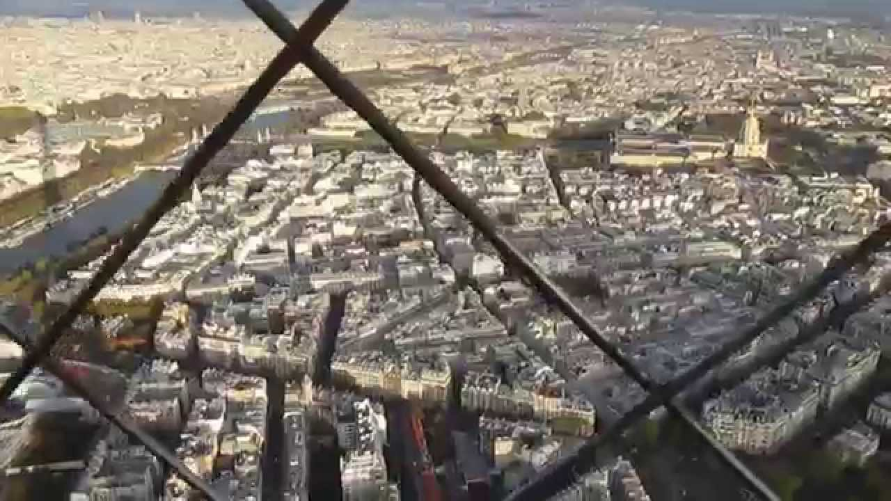 View from the top of eiffel tower paris youtube for Best view of eiffel tower from hotel room