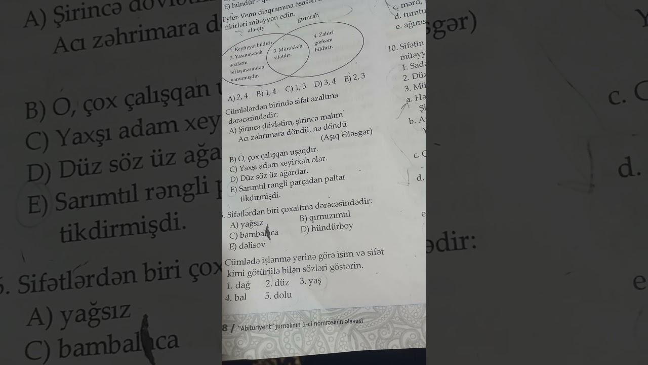 5- sinif Azerbaycan dili dim izahli cavablar seh 218 A varianti