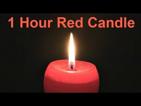 ❀ 1 Hour Red Candle (with Music)