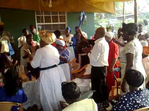 Spiritual Baptist Thanksgiving service in St Vincent