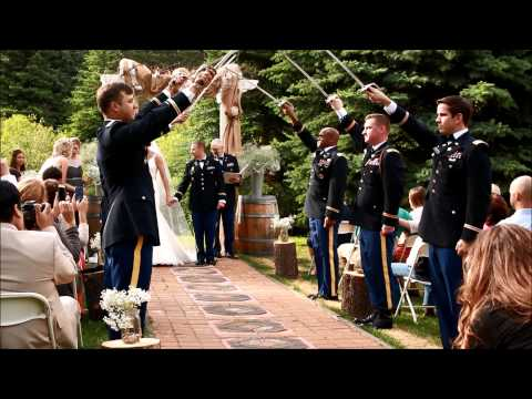 Army Military Wedding with Sabers Arch Grand Exit Send Off