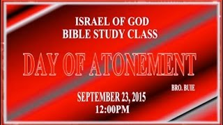 """IOG - """"The Day of Atonement"""" 2015"""