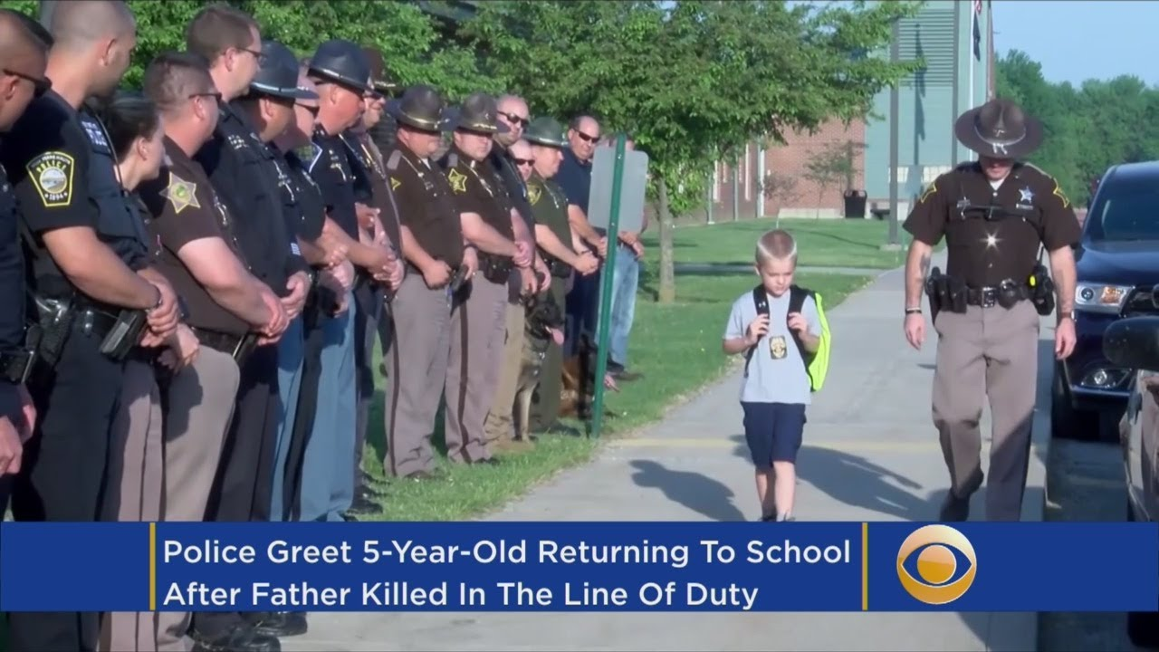 5-Year-Old Boy Gets Police Escort To School After Dad Dies In Line Of Duty