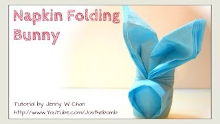 Easter Crafts- How to Fold a Bunny Rabbit from a Napkin - DIY Napkin Folding - EASY Table Setting