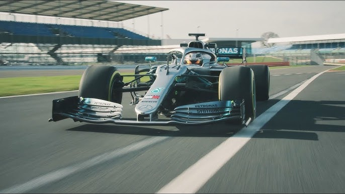 acaff1e4bdd 2019 Mercedes F1 Car in Action  W10 Takes to the Track!