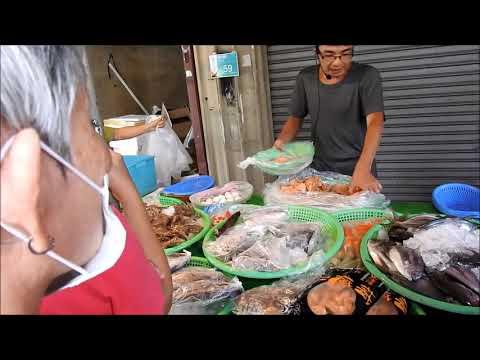 seafood auction -Taiwan tainan Yamuliao Traditional market