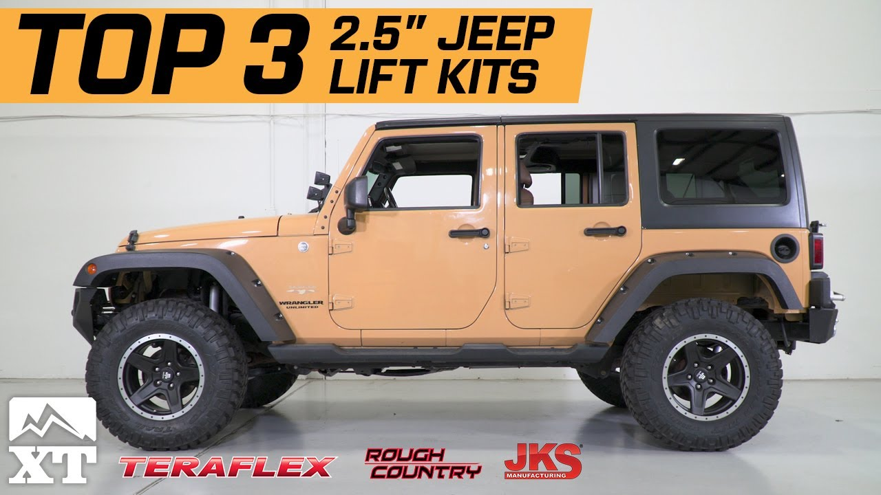 hight resolution of the 3 best jeep wrangler 2 5 lift kits for 2007 2017 jk unlimited rubicon sahara sport