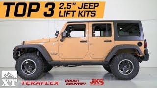 "The 3 Best Jeep Wrangler 2.5"" Lift Kits For 2007-2017 JK Unlimited Rubicon Sahara Sport"