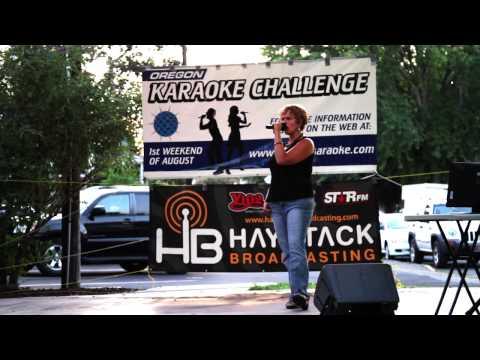 Melissa Oregon Karaoke Challenge 2013 The Dalles OR.