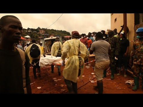 Thumbnail: Sierra Leone rescuers continue to search mudslide site