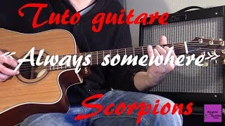 Tuto guitare Always somewhere Part1 Scorpions TAB