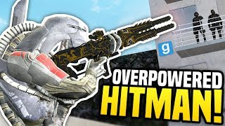 OVERPOWERED HITMAN - Gmod DarkRP | Speed Suit & OP Gun!