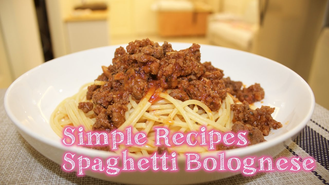 Simple Recipes Spaghetti Bolognese Resipi Mudah Pasta Tomato