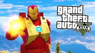 GTA 5 PC Mods - IRON MAN MOD w/ ALL ABILITIES! GTA 5 Iron Man Mod Gameplay! (GTA 5 Mods Gameplay)