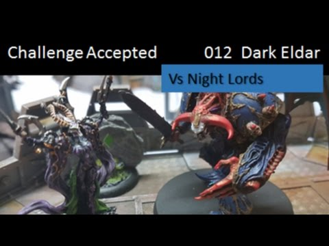 Warhammer 40K Battle Report Chaos Space Marine Night Lords Vs Dark Eldar
