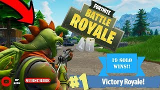 Fortnite 19 SOLO WINS! NEW EPIC T-REX SKIN - VEHICLES!?