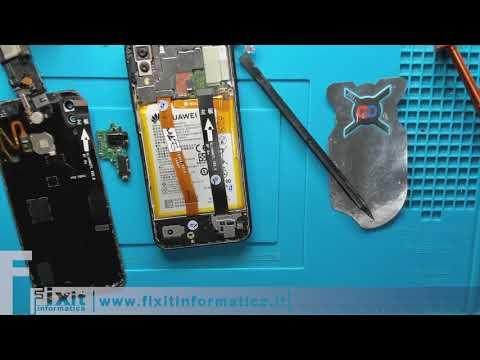 Huawei P20 Lite sostituzione cassa vivavoce, scheda usb e cavo collegamento main-sub board.