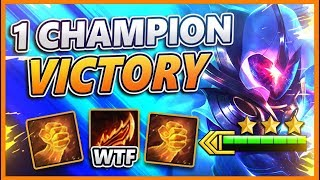I WIN USING 1 CHAMPION THE WHOLE GAME (MAX ATTACK SPEED) - BunnyFuFuu TFT
