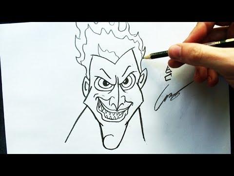 Como Desenhar O Hades Hercules Disney How To Draw Hades