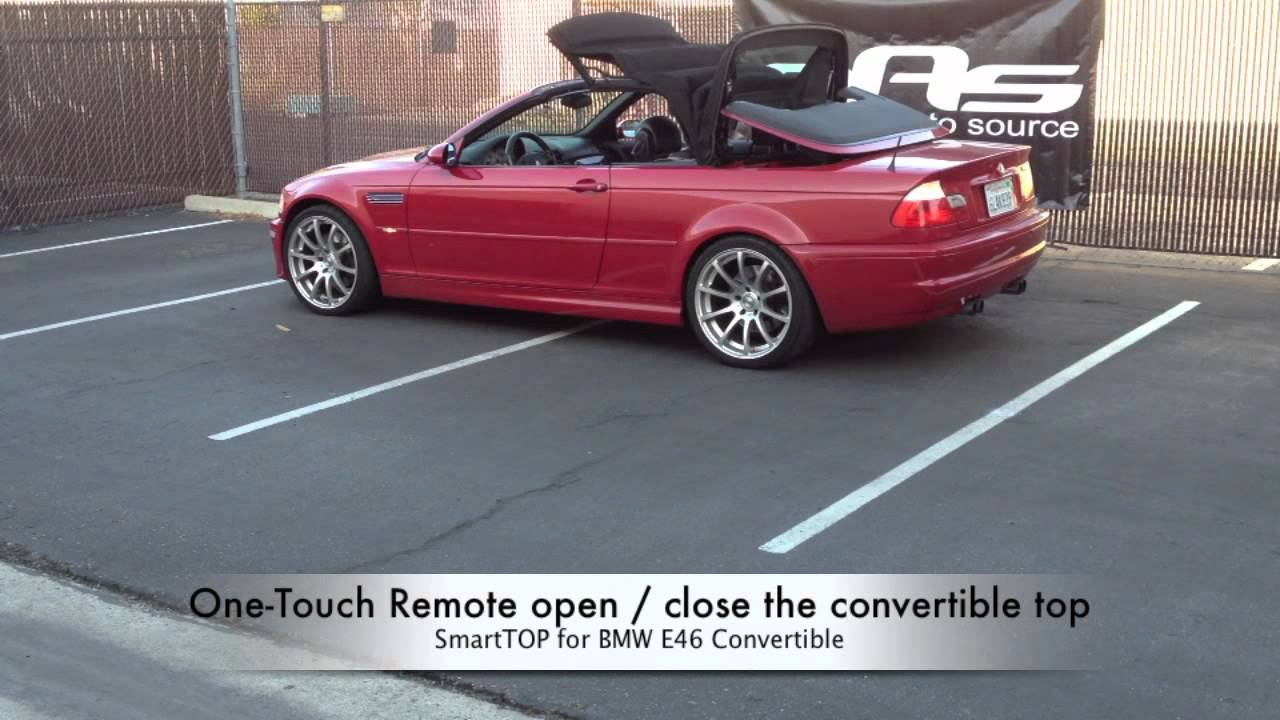 mods4cars SmartTOP for BMW 3 Series Convertible E46  operate