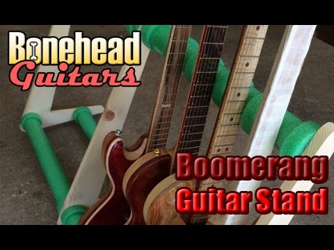 Building A Large Boomerang Guitar Stand