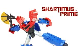 Transformers Optimus Prime Deluxe Class Robots In Disguise TV Show Toy Cartoon Action Figure Review