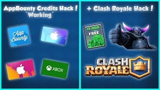 "AppBounty ""WORKING"" Credits Hack 2016 - EARN 500,000 Points! IOS/Android (Clash Royale Gems Hack)"