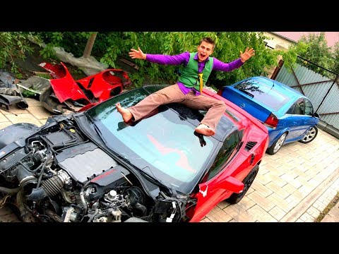 Mr. Joe on Broken Corvette found Car Keys in Car Service & Started Race on Opel Vectra OPC for Kids
