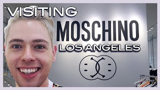 visiting the MOSCHINO boutique in Los Angeles fall/winter 2015