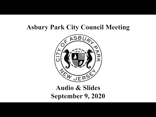 Asbury Park City Council Meeting - September 9, 2020