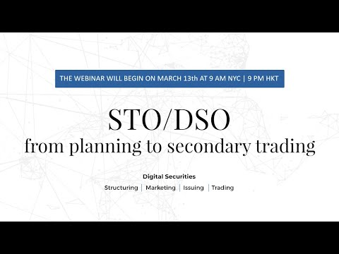 Cover Image for Dilendorf Khurdayan Webinar: STO / DSO - From Planning To Secondary Trading