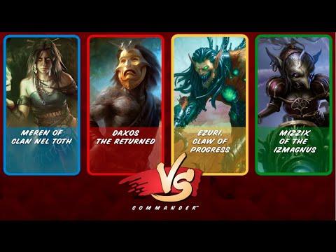 Commander VS S3E5: Meren vs Ezuri vs Daxos vs Mizzix [MTG: Multiplayer]