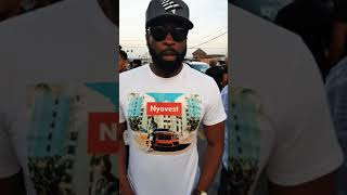 DJ Sbu at the Nipsey Hussle crime scene in Crenshaw