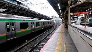 快速鎌倉あじさい号185系運用横浜到着シーン