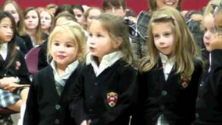 """Program for Young Children singing """"Over the River"""""""