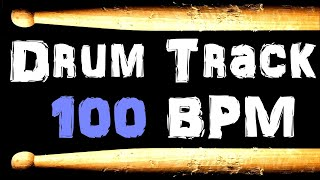 R&B Funk Drum Beat 100 BPM Bass Guitar Backing Jam Track Rhythm and Blues Drums