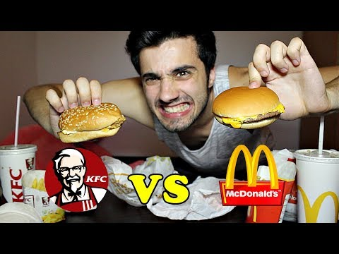 MCDONALD vs. KFC !! (TASTE TEST CHALLENGE)