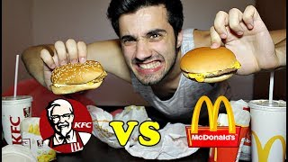 MCDONALD vs. KFC !! (TASTE TEST CHALLENGE)