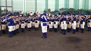 Uraufführung Marsch Luzern 42195, Lucerne Marching Band am SwissCityMarathon 2013
