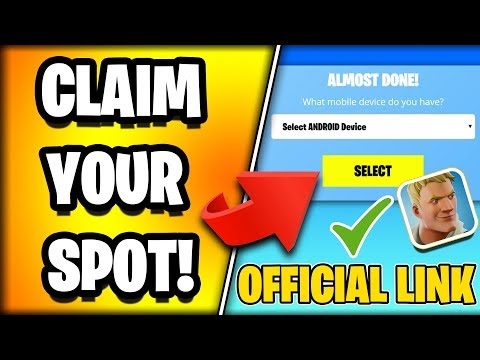 *OFFICIAL* HOW TO SIGNUP FOR Fortnite ANDROID Mobile EARLY (Signup Early Link)