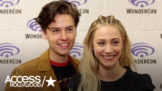 riverdale s cole sprouse lili reinhart on betty jughead s continuing investigation