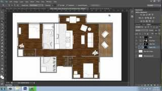 Adobe Photoshop Cs6 - Rendering A Floor Plan - Part 3 - Floors And Pattern - Brooke Godfrey