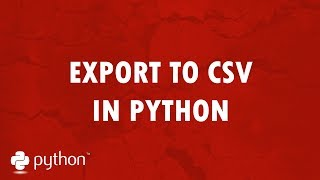 Export to CSV in Python