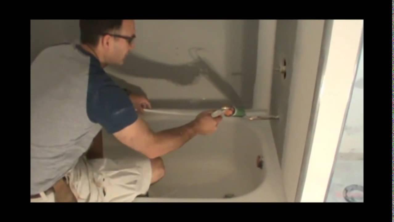 Duraflex Professional Bathtub Surround Kit Installation Part 1 of 3 ...