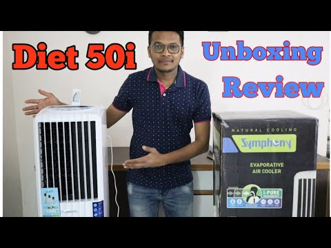 Symphony Diet 50i Air Cooler Unboxing and Review in Hindi
