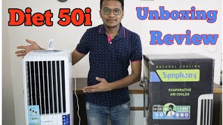 Symphony Diet 50i Air Cooler Unboxing and Review in Hindi | Best Sleek Air Cooler ?