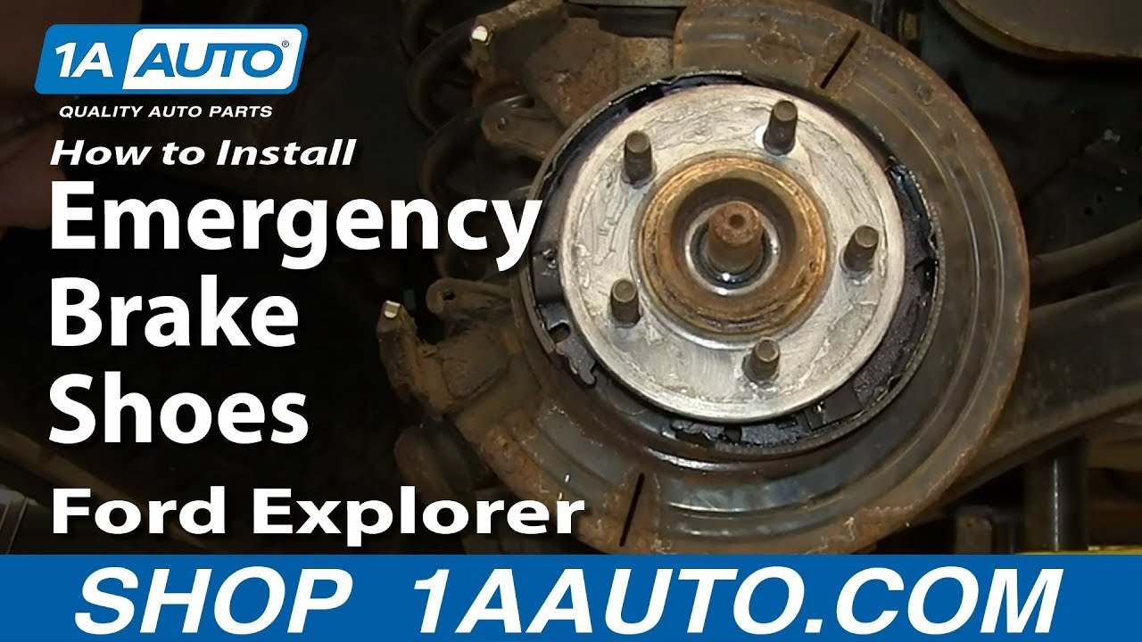 how to install replace emergency brake shoes 2002 05 ford explorer mercury mountaineer [ 1280 x 720 Pixel ]